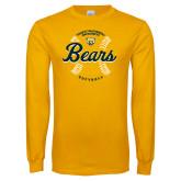 Gold Long Sleeve T Shirt-Bears Softball Seams