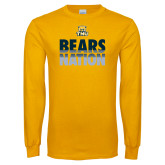 Gold Long Sleeve T Shirt-Bears Nation