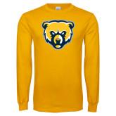 Gold Long Sleeve T Shirt-Bear Head
