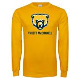 Gold Long Sleeve T Shirt-Bear Head Truett McConnell