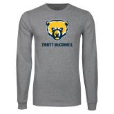 Grey Long Sleeve T Shirt-Bear Head Truett McConnell