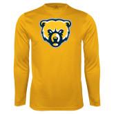 Syntrel Performance Gold Longsleeve Shirt-Bear Head