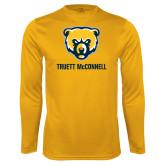 Syntrel Performance Gold Longsleeve Shirt-Bear Head Truett McConnell