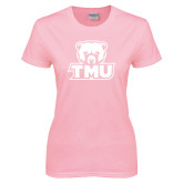 Ladies Pink T-Shirt-Primary Logo
