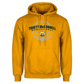 Gold Fleece Hoodie-Truett McConnell Basketball Arched