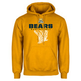 Gold Fleece Hood-Bears Basketball Hanging Net