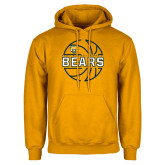 Gold Fleece Hood-Bears Basketball Lined Ball