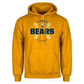 Gold Fleece Hood-Bears Baseball Seams