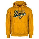 Gold Fleece Hood-Bears Baseball Plate