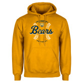 Gold Fleece Hood-Bears Softball Seams