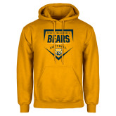 Gold Fleece Hood-Bears Softball Plate