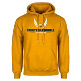 Gold Fleece Hood-Truett McConnell Cross Country Wings