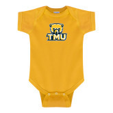 Gold Infant Onesie-Primary Logo