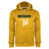 Under Armour Gold Performance Sweats Team Hoodie-Bears Basketball Hanging Net