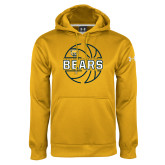 Under Armour Gold Performance Sweats Team Hoodie-Bears Basketball Lined Ball