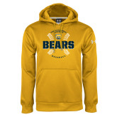 Under Armour Gold Performance Sweats Team Hoodie-Bears Baseball Seams