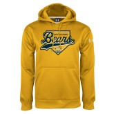 Under Armour Gold Performance Sweats Team Hood-Bears Baseball Plate