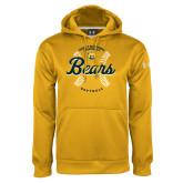 Under Armour Gold Performance Sweats Team Hoodie-Bears Softball Seams