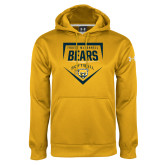 Under Armour Gold Performance Sweats Team Hoodie-Bears Softball Plate