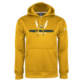 Under Armour Gold Performance Sweats Team Hoodie-Truett McConnell Cross Country Wings