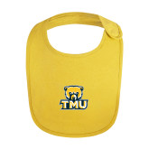 Yellow Baby Bib-Primary Logo