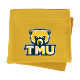 Gold Sweatshirt Blanket-Primary Logo