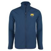 Navy Softshell Jacket-Bear Head