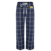 Navy/White Flannel Pajama Pant-Bear Head
