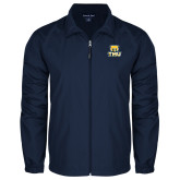 Full Zip Navy Wind Jacket-Primary Logo