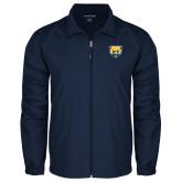 Full Zip Navy Wind Jacket-Bear Head