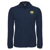 Fleece Full Zip Navy Jacket-Bear Head