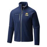 Columbia Full Zip Navy Fleece Jacket-Primary Logo