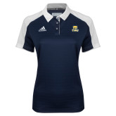 Ladies Adidas Modern Navy Varsity Polo-Primary Logo