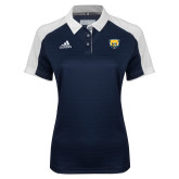 Ladies Adidas Modern Navy Varsity Polo-Bear Head