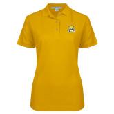Ladies Easycare Gold Pique Polo-Primary Logo