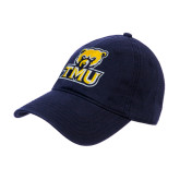 Navy Twill Unstructured Low Profile Hat-Primary Logo