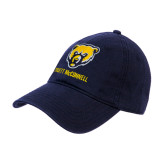 Navy Twill Unstructured Low Profile Hat-Bear Head Truett McConnell