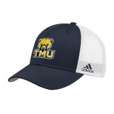 Adidas Navy Structured Adjustable Hat-Primary Logo