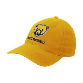 Gold Flexfit Mid Profile Hat-Bear Head Truett McConnell