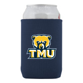 Collapsible Navy Can Holder-Primary Logo