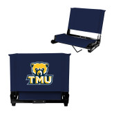 Stadium Chair Navy-Primary Logo