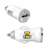 On the Go White Car Charger-Primary Logo