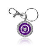 Crystal Studded Round Key Chain-Truman Bulldogs Circle