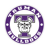 Small Decal-Truman Bulldogs Circle, 6 in. tall
