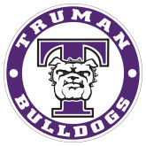 Extra Large Decal-Truman Bulldogs Circle, 18 in. tall