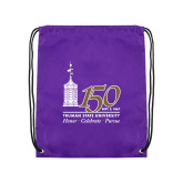 Purple Drawstring Backpack-150th Anniversary