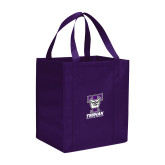 Non Woven Purple Grocery Tote-Primary Mark