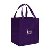 Non Woven Purple Grocery Tote-150th Anniversary