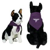 Purple Pet Bandana-Bulldog T