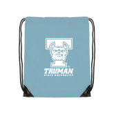 Light Blue Drawstring Backpack-Primary Mark